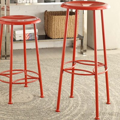 Betty 30 inch Bar Stool Upholstery: Red