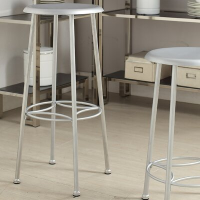Betty 30 Bar Stool Upholstery: Chrome