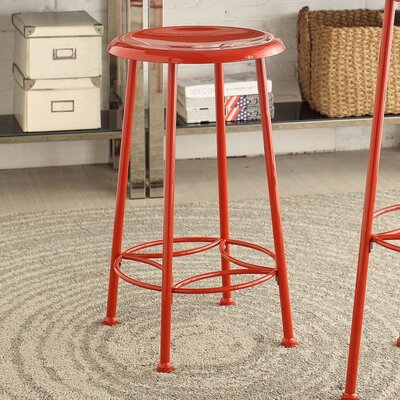 Betty 24 inch Bar Stool Finish: Red