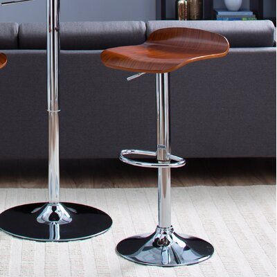 Beth Adjustable Height Swivel Bar Stool (Set of 2)