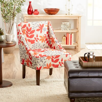 Campos Slipper Chair Color: Autumn Leaves