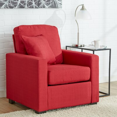 Claire Arm Chair Color: Cardinal
