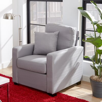 Claire Arm Chair Color: Platinum