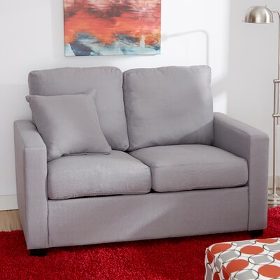 Earlene Loveseat Upholstery: Platinum