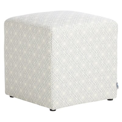 Jillian Cube Ottoman Upholstery: Platinum