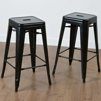 Kristen 30 Bar Stool Upholstery: Black