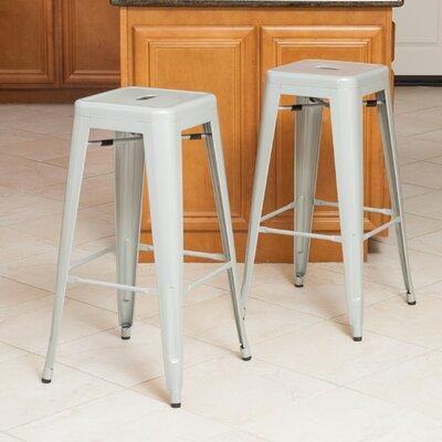 Kristen 30 Bar Stool Upholstery: Silver