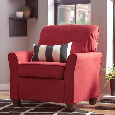 Aubrey Armchair Upholstery: Red