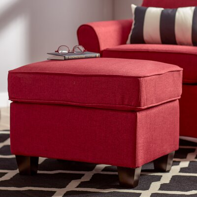 Aubrey Ottoman Upholstery: Red