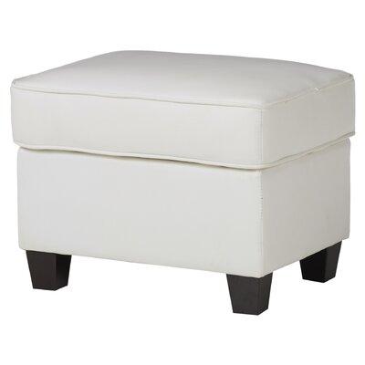 Ella Ottoman Upholstery: White