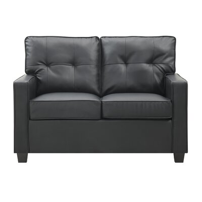 Ella Loveseat Upholstery: Black