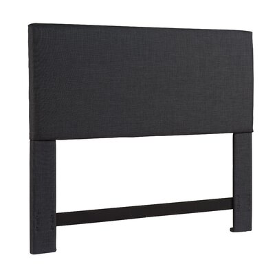 Carter Upholstered Panel Headboard Upholstery: Carbon, Size: California King / King