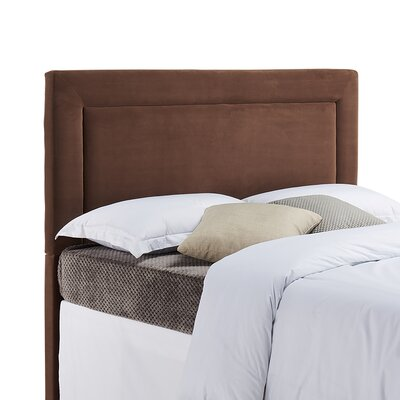 Jamie Upholstered Panel Headboard Size: Twin, Upholstery: Cocoa