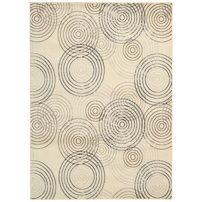 Densmore Ivory Area Rug Rug Size: Rectangle 53 x 73