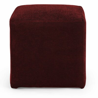 Joan Cube Ottoman Upholstery: Red