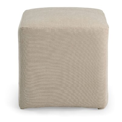 Joan Cube Ottoman Upholstery: Ivory