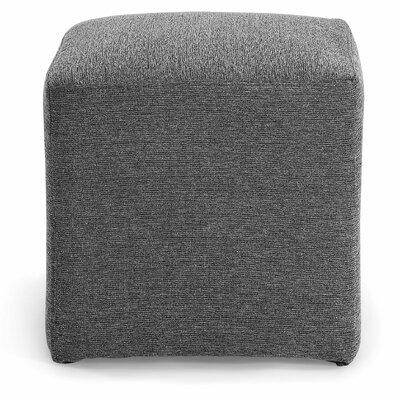 Joan Cube Ottoman Upholstery: Charcoal