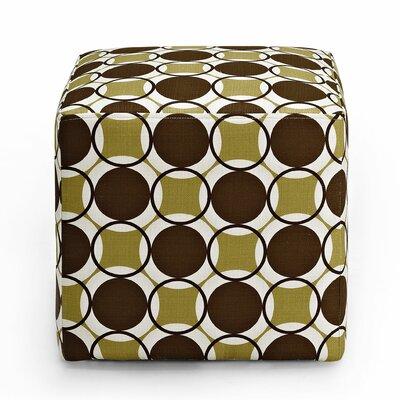 Schmitt Cube Ottoman Upholstery: Fern