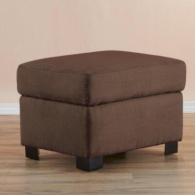 Gracie Ottoman Upholstery: Dark chocolate