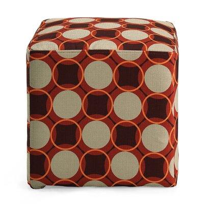 Schmitt Geometric Cube Ottoman Upholstery: Fiesta