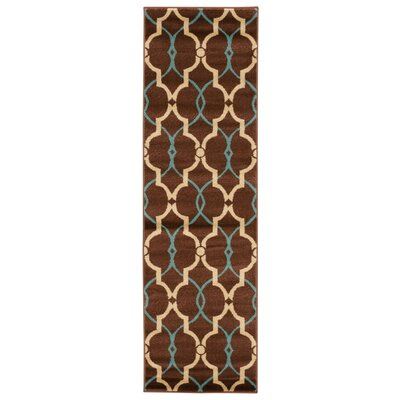 Dina Brown Area Rug Rug Size: Runner 22 x 73