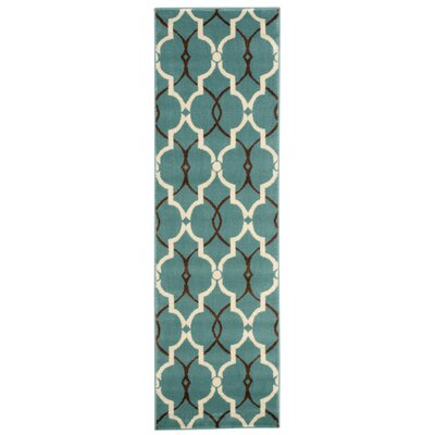 Jillian Blue Area Rug Rug Size: Runner 22 x 73