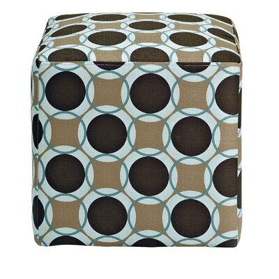 Schmitt Geometric Cube Ottoman Upholstery: Pool