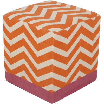 Julianne Pouf Ottoman Upholstery: Orange