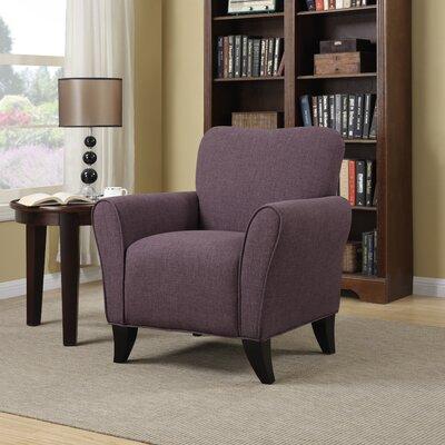 Milo Arm Chair Upholstery: Purple