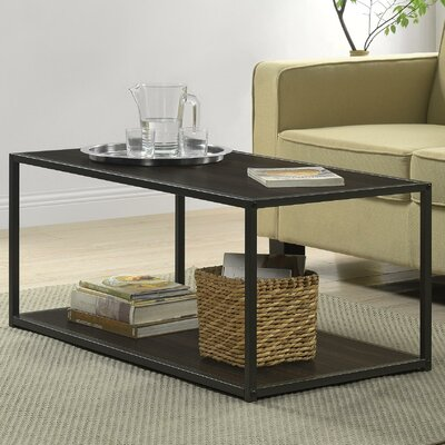 Claudette Industrial Coffee Table Finish: Espresso