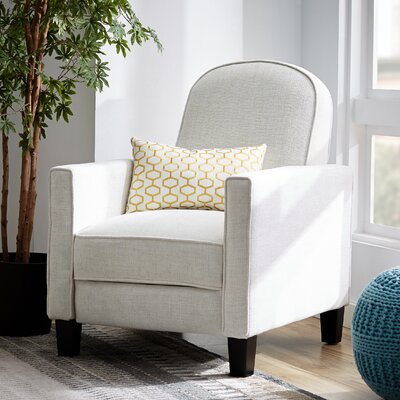 Joanne Manual Recliner Upholstery: Natural Fabric