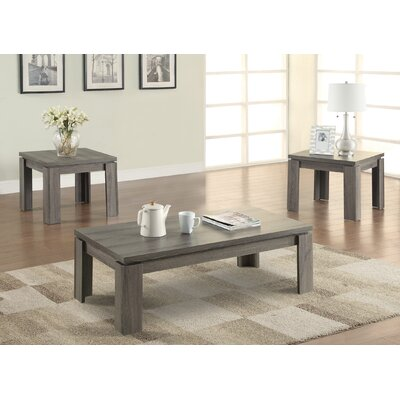 Norma 3 Piece Coffee Table Set Color: Dark Grey
