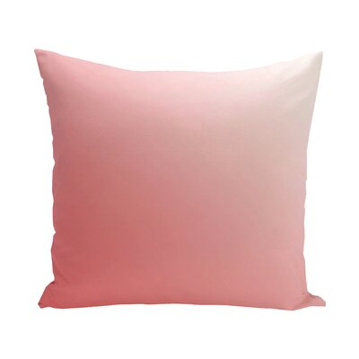 Bonnie Down Blend Throw Pillow Size: 16 H x 16 W, Color: Coral