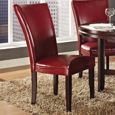 Jewell Parsons Chair (Set of 2) Chair Upholstery: Red