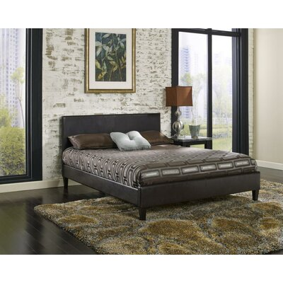 Wilmer Upholstered Platform Bed Size: Twin, Color: Brown