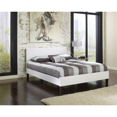 Wilmer Upholstered Platform Bed Size: Queen, Upholstery: White