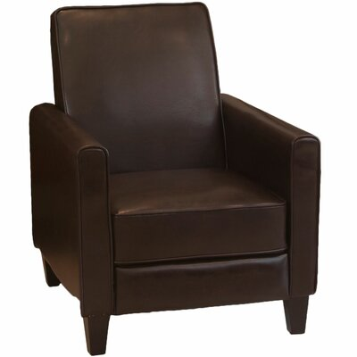 Lana Manual Recliner Upholstery: Brown