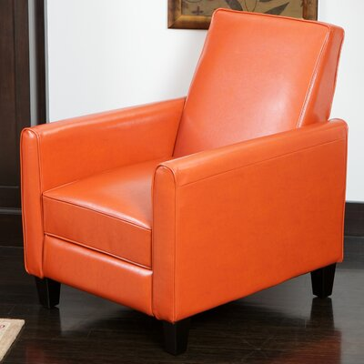 Lana Reclining Club Chair Upholstery: Orange