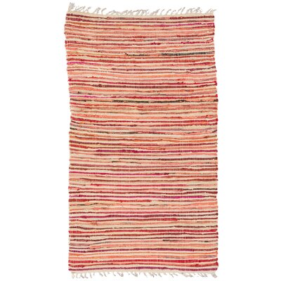 Barr Red Multi Striped Area Rug Rug Size: 19 x 210