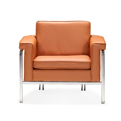 Nadine Armchair Upholstery: Terracotta