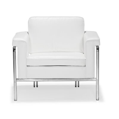 Nadine Arm Chair Upholstery: White