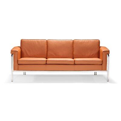 Nadine Leatherette Sofa Upholstery: Terracotta