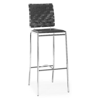 Millicent 29 Bar Stool Upholstery: Black