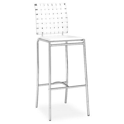Millicent 29 Bar Stool Upholstery: White