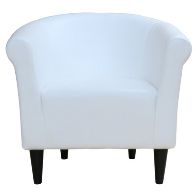 Liam Barrel Chair Upholstery: White