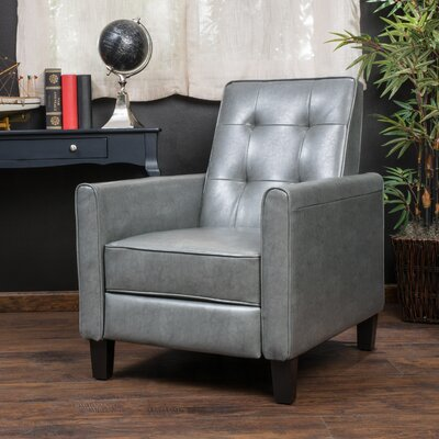 Lowell Recliner Upholstery: Grey