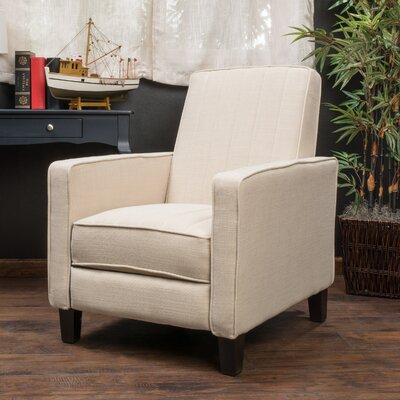 Azucena Polyester Recliner Upholstery: Beige