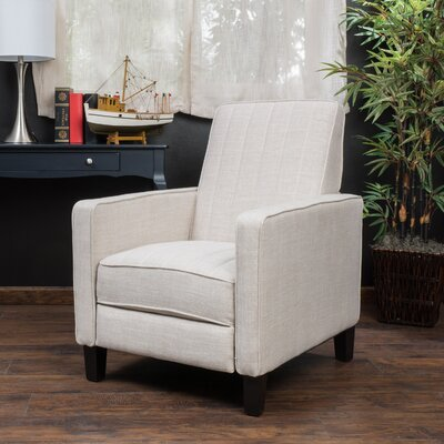 Azucena Polyester Recliner Upholstery: Light Beige