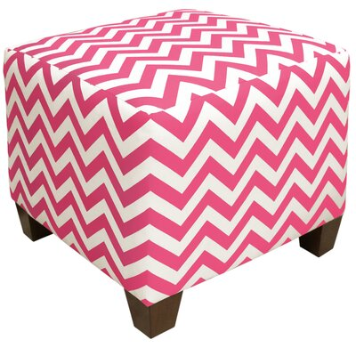 Michelle Square Ottoman in Candy Pink