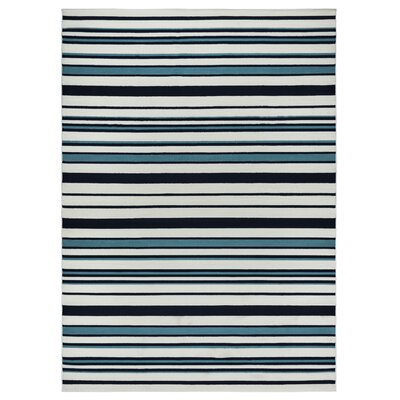 Lucia Black/Gray/Green Indoor/Outdoor Area Rug Rug Size: 33 x 53